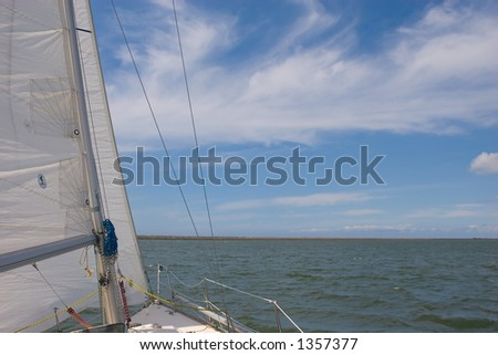 Sailboat cruissing