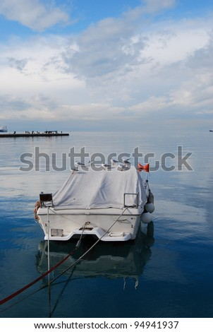 Sailboat in the gulf of Trieste - Italy - stock photo
