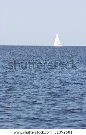 Sailboat in the sea - stock photo