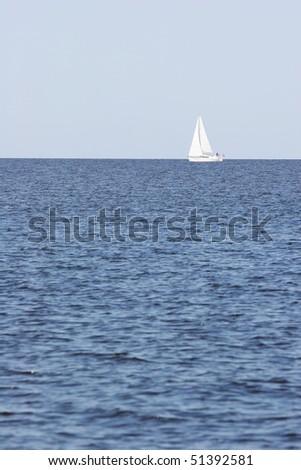 Sailboat in the sea - stock photo