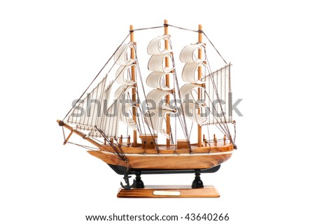 sailboat isolated  on a  white background