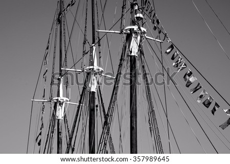 Sailboat mast / Ship - stock photo