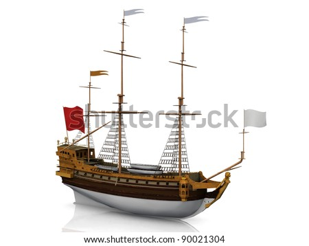 sailboat on a white background