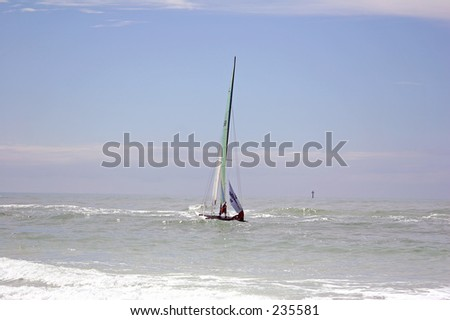 Sailboat on Gulf of Mexico