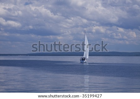 Sailboat On Lake Michigan