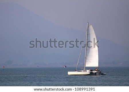 Sailboat on the blue