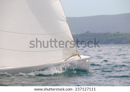 Sailboat speed - stock photo