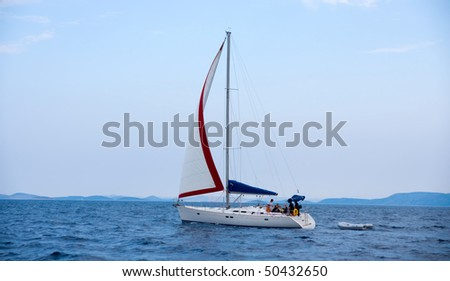 Sailboats at Harbor - stock photo