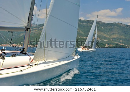 Sailboats regatta  - stock photo