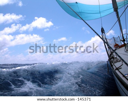sailing 1 - stock photo