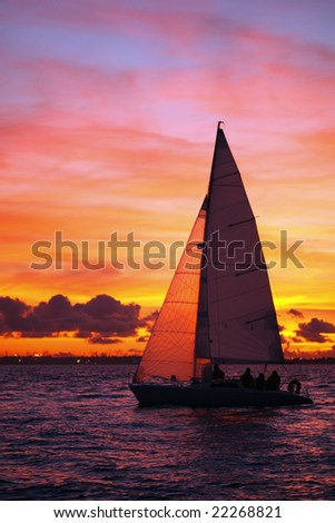 Sailing - stock photo