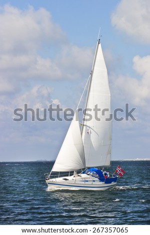 Sailing boat in the archipelago - stock photo