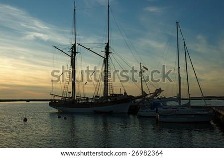 Sailing boats at the Kiili harbor in western coast of Finland - stock photo