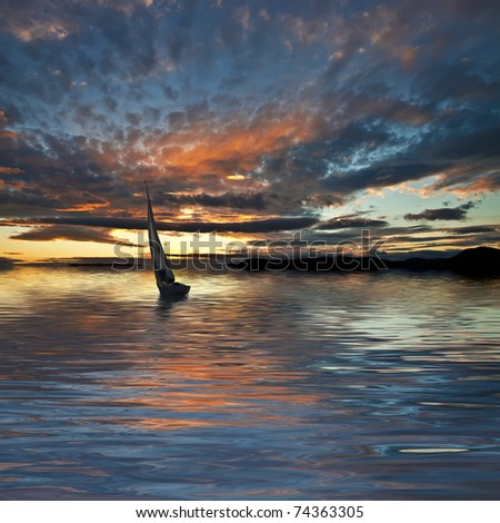 sailing clouds - stock photo