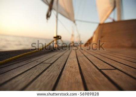 Sailing detail - stock photo