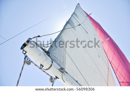 sailing during yacht regatta - stock photo