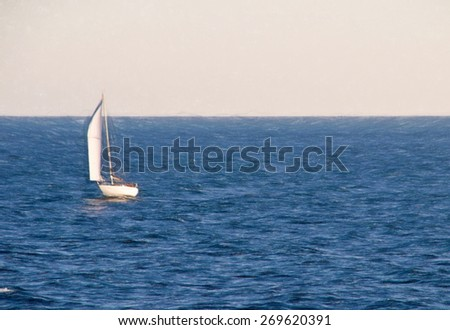 sailing  - illustration based on own photo image