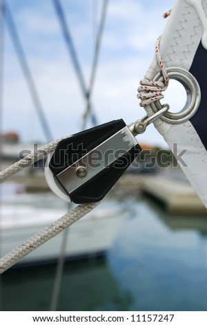 Sailing in Croatia - stock photo