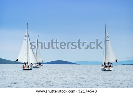 Sailing in Croatia - stock photo