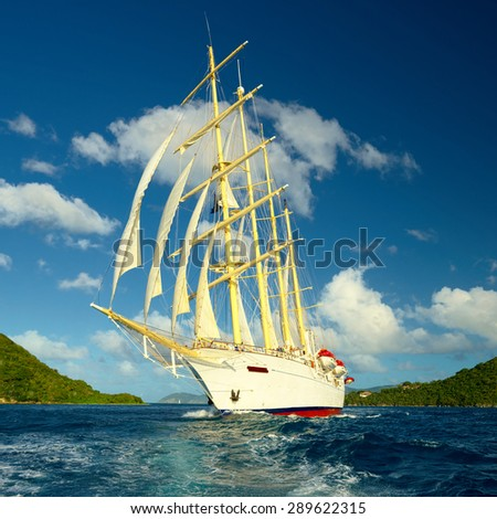 Sailing. Maldives - stock photo