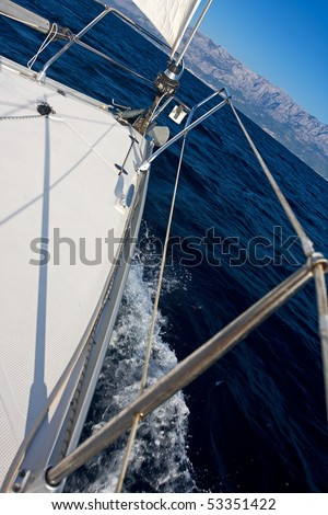 sailing on a summer day - stock photo