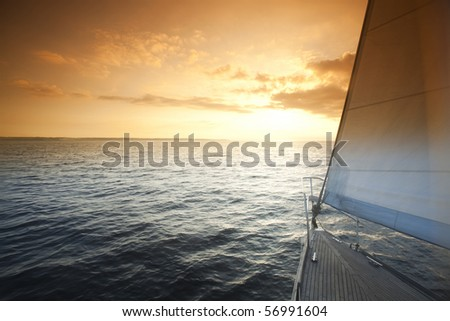 Sailing on a sunny day - stock photo