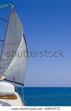 Sailing on a sunny summer day - stock photo