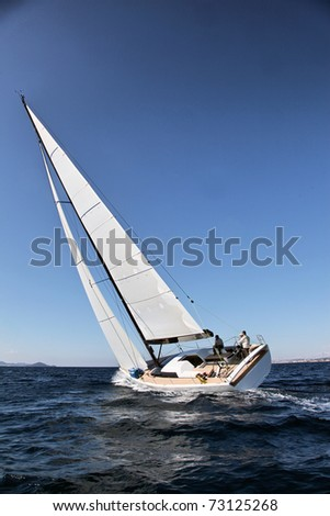 Sailing on Ad5riatic See - stock photo
