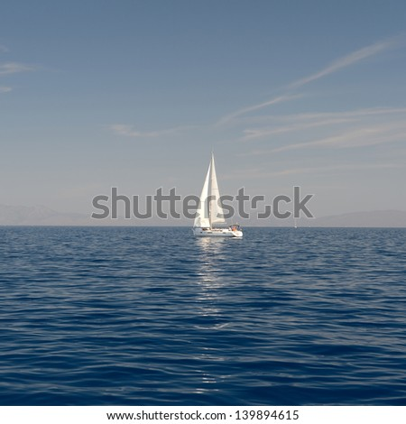 Sailing on the Adriatic - stock photo
