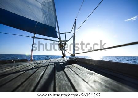 Sailing on the Baltic Sea Sea - stock photo