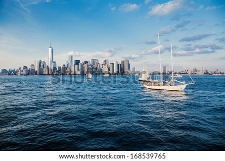 Sailing on the Hudson River  - stock photo