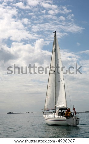 Sailing out to the ocean - stock photo