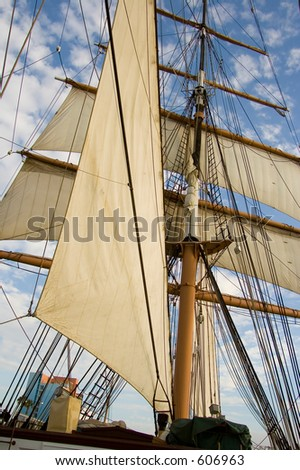 Sailing ship (exclusive at shutterstock)