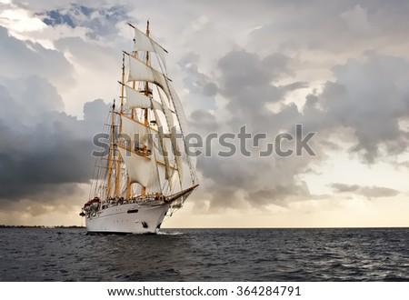 Sailing ship. Yachting. Sailing - stock photo