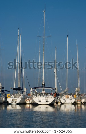 Sailing ships on a summer day - stock photo