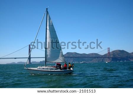 Sailing The Bay - stock photo