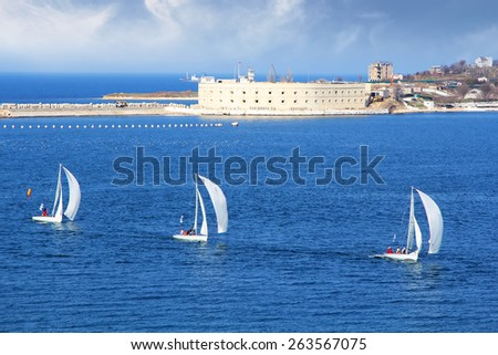 Sailing the Black Sea - stock photo