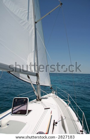 Sailing the Keys - stock photo