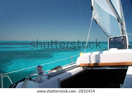 Sailing the Keys - stock photo