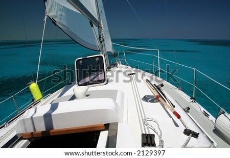 Sailing the Shallow Seas - stock photo