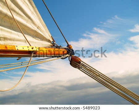 Sailing to the bright blue sky, hoping for better weather