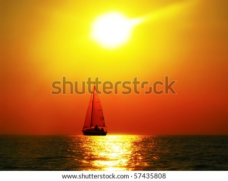 Sailing to the sunset