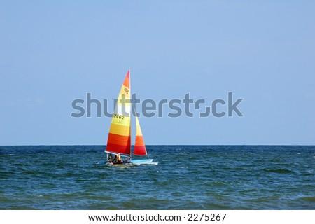 Sailing vessel - stock photo