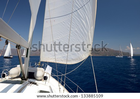 Sailing yacht - stock photo