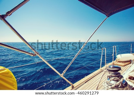 Sailing yacht boat on Adriatic sea