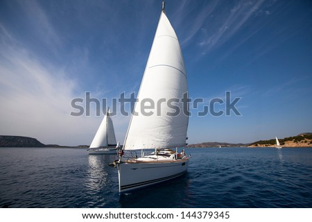 Sailing yacht race - stock photo