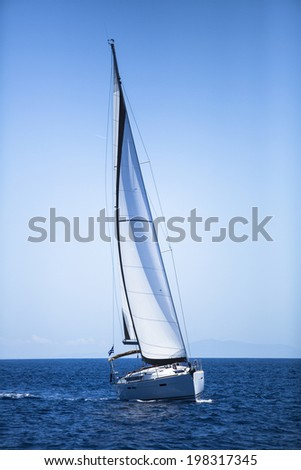Sailing. Yachting in Greece. Luxury Yachts. - stock photo