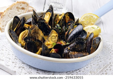 Sailors Mussels - stock photo
