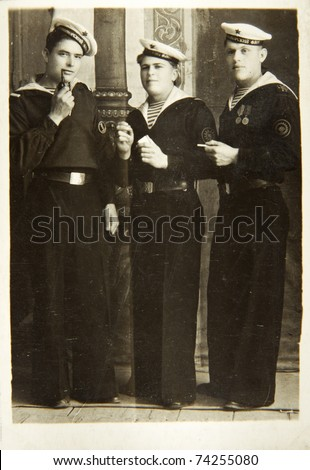 Sailors of The Second World War, USSR - stock photo