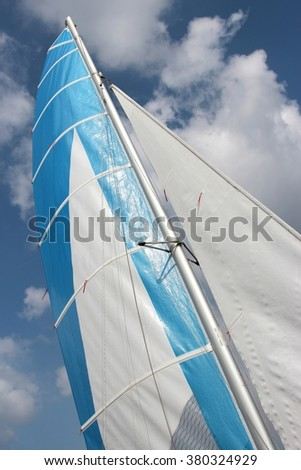 sails against the sky - stock photo